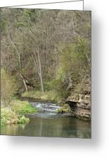 Whitewater River Spring 45 B Greeting Card