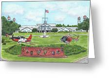 Whiting Field Welcome Sign Greeting Card by Betsy Hackett