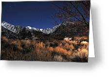 Whitney Campground View Greeting Card