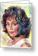 Whitney Houston Portrait Greeting Card