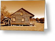 Whitney Plantation Slave Cabin In Wallace Louisiana Greeting Card