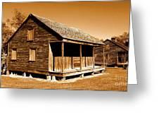 Whitney Plantation Slave Cabins Greeting Card