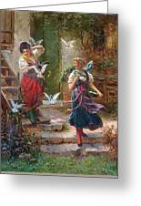 Who Others A Pit Digs Hans Zatzka Greeting Card