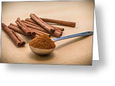 Whole Cinnamon Sticks With A Heaping Teaspoon Of Powder Greeting Card