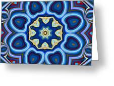 Whorl Kaleidoscope Greeting Card
