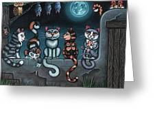 Whos Your Daddy Cat Painting Greeting Card