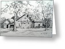 Whose Barn This Is I Think I Know Greeting Card