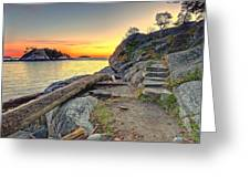 Whytecliff Park Sunset Greeting Card
