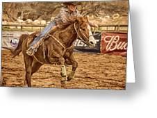 Wickenburg Senior Pro Rodeo Barrel Racing Greeting Card