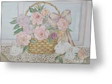 Wicker And Old Lace Greeting Card
