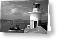 Wicklow Lighthouse Ireland Greeting Card