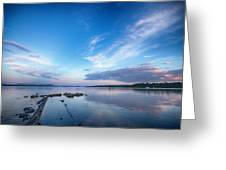 Wide Angled Sunset Over Moosehead Lake Greeting Card
