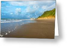 Wide Beach And Nature Greeting Card