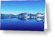 Wide Crater Lake Greeting Card
