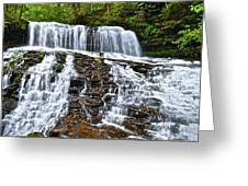 Wide Flowing Falls Greeting Card