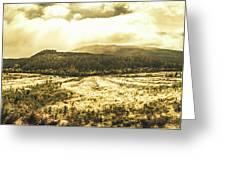 Wide Open Tasmania Countryside Greeting Card