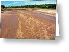 Wide Thwake River Greeting Card