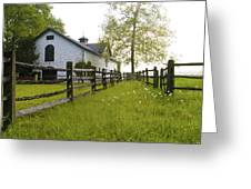 Widener Farms Horse Stable Greeting Card