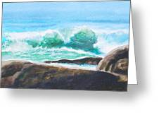 Widescreen Wave Greeting Card