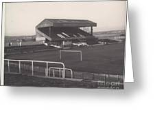 Wigan Athletic - Springfield Park - Main Stand 1 - Bw - 1969 Greeting Card
