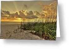 Wiggins Pass Sunset Greeting Card
