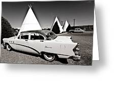 Wigwam Motel Classic Car #2 Greeting Card