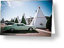 Wigwam Motel Classic Car #3 Greeting Card
