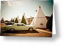 Wigwam Motel Classic Car #4 Greeting Card