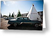 Wigwam Motel Classic Car #5 Greeting Card