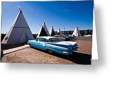 Wigwam Motel Classic Car #6 Greeting Card