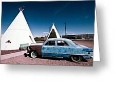 Wigwam Motel Classic Car #7 Greeting Card