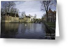 Wijngaardplein Bruges Greeting Card