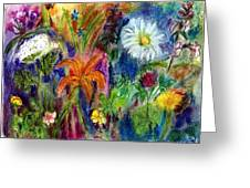 Wild Backyard Meadow Greeting Card