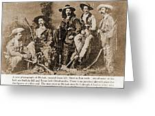 Wild Bill Hickok, Buffalo Bill Greeting Card