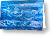 Wild Blue Greeting Card by Joel Tesch