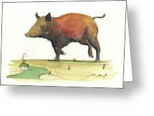 Wild Boar Delgadin Greeting Card
