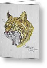 Wild Bobcat Greeting Card