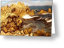 Wild California Coast - Modern Art Greeting Card