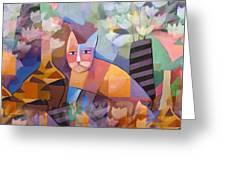 Wild Cat Blues Greeting Card by Lutz Baar