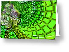 Wild Curves Abstract Greeting Card