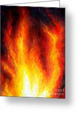Wild Fire 04 Greeting Card