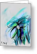 Wild Flower Abstract Greeting Card