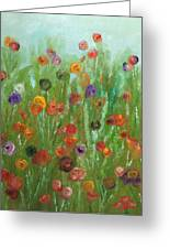 Wild Flowers Abstract Greeting Card