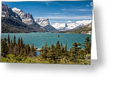 Wild Goose Island And The Peaks Of St Mary's Greeting Card