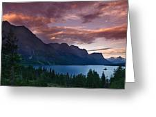 Wild Goose Island Glacier National Park Greeting Card