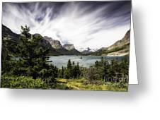 Wild Goose Island Glacier Park 4 Greeting Card