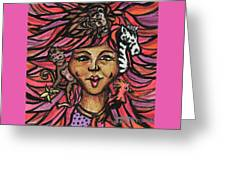 Wild Hair Greeting Card