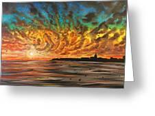 Wild Hearted Sun - Santa Cruz Greeting Card by Joel Tesch