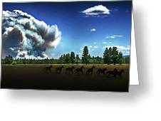 Wild Horse Fire Greeting Card