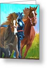 Wild Horses Running  Greeting Card